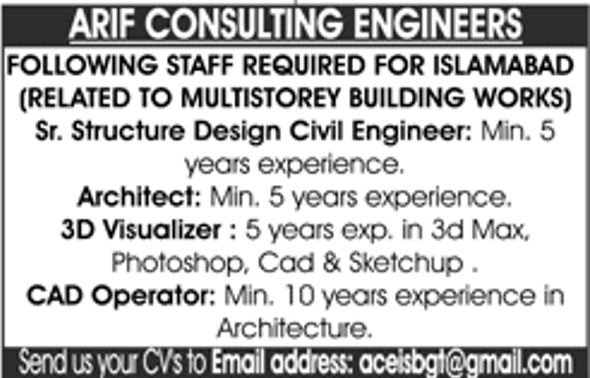 Get a Latest Jobs In Arif Consulting Engineers 2019