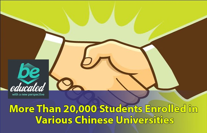 More than 20,000 students enrolled in various Chinese universities