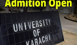 News Admission open in University of Karachi