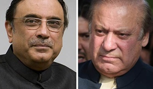 Nawaz Sharif sends a Message to Asif Ali Zardari asking for Help