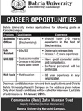 Job In Bahria University 28 Dec 2018
