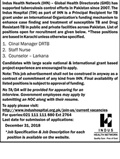 Job In Indus Health Network 24 Dec 2018