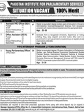 Job In Pakistan Institute For Parliamentary Services 1 Jan 2019