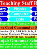 Job In Punjab Grammar School 07 Jan 2019