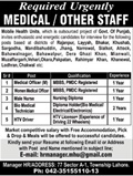 Jobs for Medical Staff in Lahore 04 Feb 2018