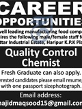 Jobs In A Leading Food Manufacturing Company 16 Mar 2018