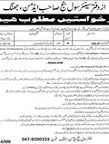 Jobs in District & Session Court Jhang 19 June 2018