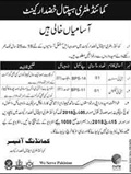 Jobs in Military Hospital in Khuzdar 15 Feb 2018