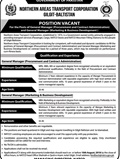 Jobs in Northern Areas Transportation Gilgit Baltistan 12 July 2018