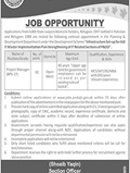 Jobs In Planning And Development Department AJK 16 Nov 2018