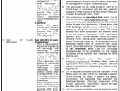 Agriculture Department Offering Jobs In Lahore
