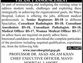 Anesthetists, Medical Officer Jobs in Lahore