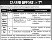 Bahria University Offering Jobs In Karachi