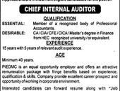 Chief Internal Auditor Jobs  In Punjab Industrial Estates Development & Management Company Lahore