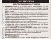 Chief Staistician Jobs In Pakistan Bureau Of Statistic  Islamabad