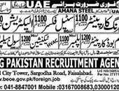 CRG Pakistan Recruitment Agency Faisalabad Offering jobs