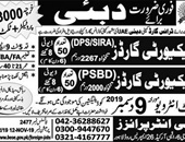 Dubai Security Guard jobs 2019