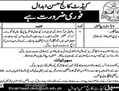 Estate Officer Jobs In  Cadet College Hassan Abdal
