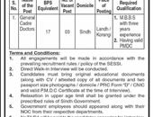 General Cadre Doctor Jobs In Sindh Employees Social Security Institution Karachi