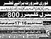 General Cleaners Jobs In Qatar