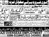 Gondal Trade Test & Training Center Offering Jobs In Saudi Arab