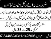 Male & Female Staff  Jobs In Real Estate Company  Mardan