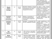 Media Coordinator,Sub Engineer,Assistant Program Officer Jobs In Federal Government Employees Housing Foundation Islamabad