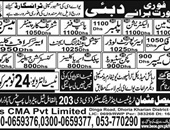 Plumber,Pipe Fitter,Shuttering Carpenter Jobs In Dubai