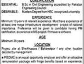 Project Director  Job In Punjab Industrial Estates Development & Management Company Lahore