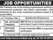 Senior Finance Officer Job  In World Wildlife Fund Pakistan Karachi