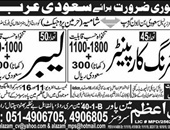 Shuttering Carpenter, Labour jobs in Saudi Arabia