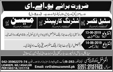 Al Muzammil Recruiting Agency Offers International Jobs 2019
