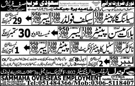 Block Mason Painter Tile Fixer  Latest Jobs in Saudi Arabia 2019