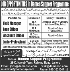 Get a Latest Jobs In Micro Finance Company 2019