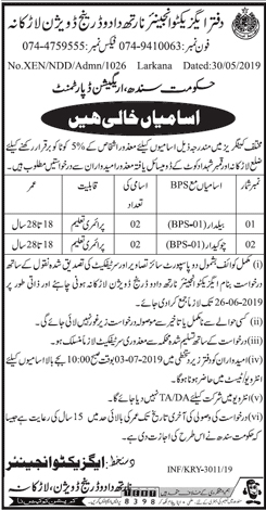 Get a Latest Jobs In Sindh Irrigation Department 2019