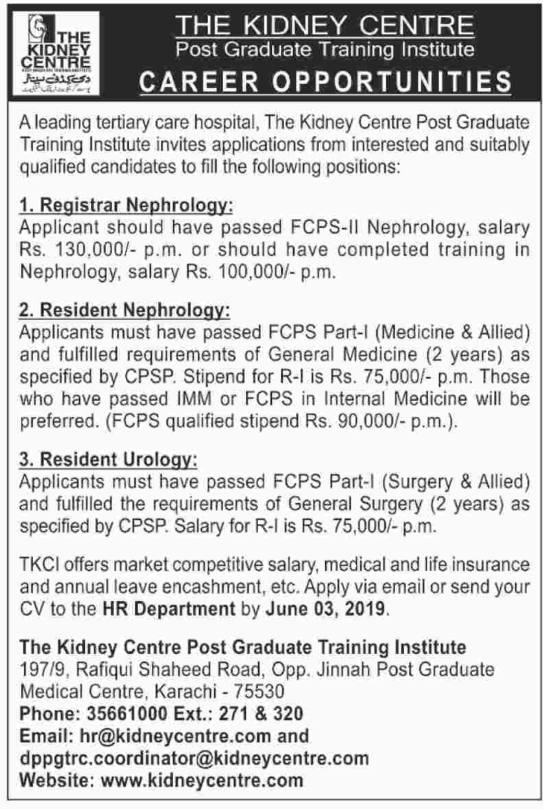 Get a Latest Jobs In The Kidney Center 2019