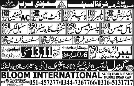 Gondal Trade Test and Training Center Offers International Jobs 2019