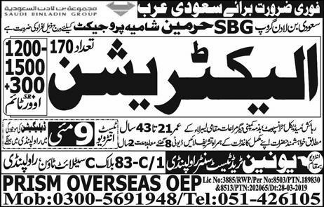 International Jobs in Union Trade Test and Training Center 2019