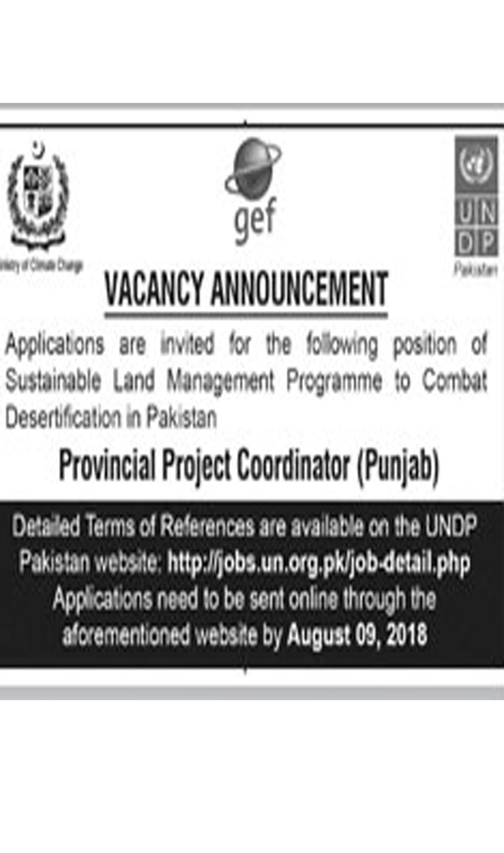 Job In Announcement 26 July 2018