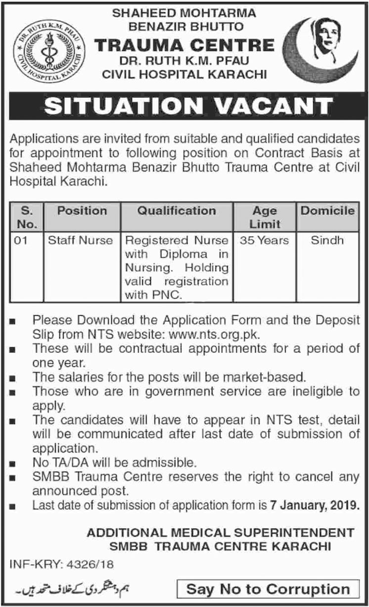 Job In  Civil Hospital  22 Dec 2018