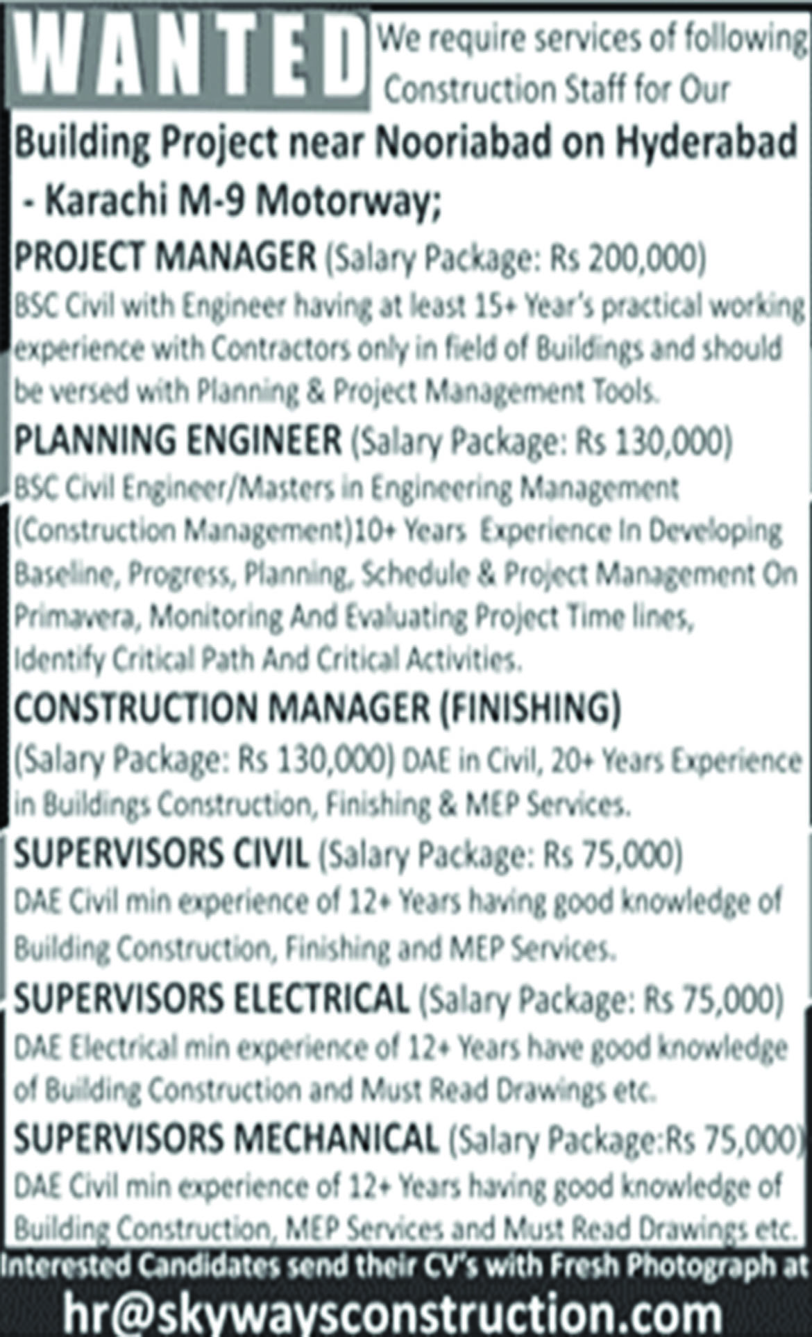 Job In Engineering Planning Manager 28 Aug 2018