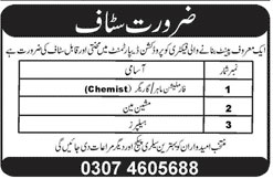 Job In Helper Required 28 Dec 2018