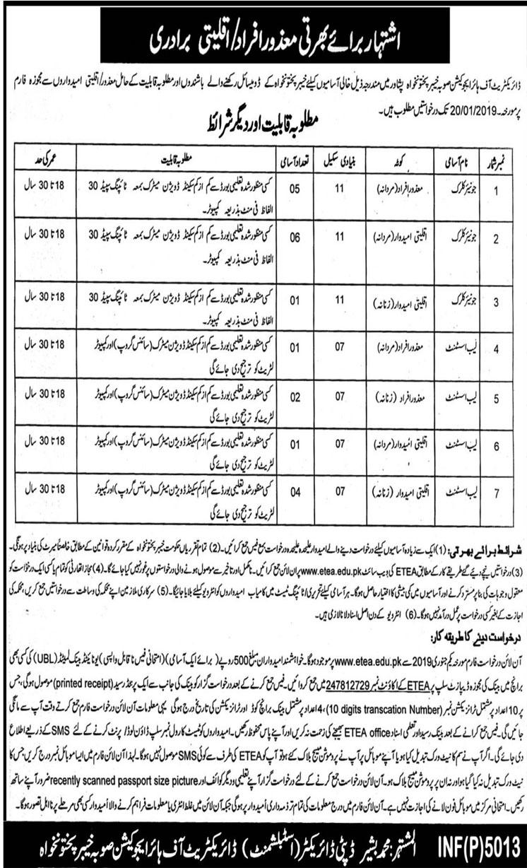 Job In Higher Education Department 2 Jan 2019