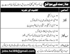 Jobs in a Construction Company 29 April 2018