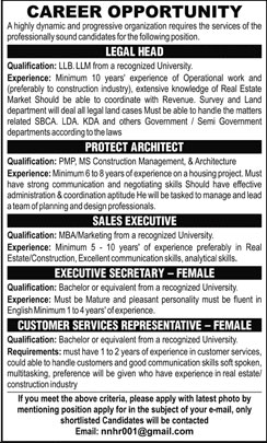 Jobs in a Highly Dynamic and Progressive Organization 15 April 2018