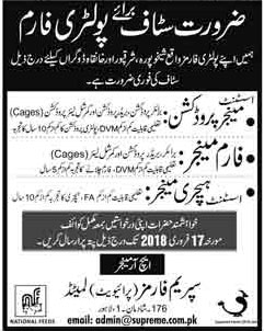 Jobs in a Poltary Farmhouse 04 Feb 2018