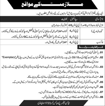 Jobs in a Public Sector Organization 20 May 2018