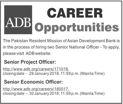 Jobs In Asian Development Bank 19 Jan 2018