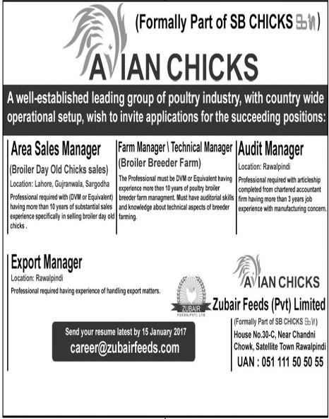 Jobs In Avian Chicken 04 Jan 2018