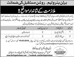Jobs in Berlin Petroleum Limited 03 March 2018